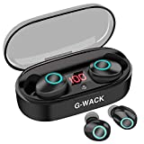 True Wireless Earbuds, 20H Playtime, Bluetooth Headphones 5.0 Mini Stereo Headset with Microphone, IPX5 Sweatproof, Hi-Fi Sound, Volume Control, in Ear Sport Earphones with Portable Charging Box/Case