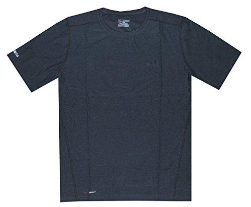 Under Armour Men HeatGear® Fitted Short Sleeve Crew T-Shirt (XXL, Carbon Heather)