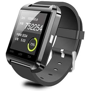 "U Watch U8 - Smartwatch (pantalla 1.48"", 64 MB, 128 MB RAM, Bluetooth, MicroUSB), negro"