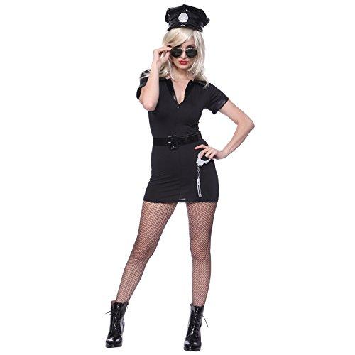 Women's Dirty Cop Officer Fancy Dress Costume S us 2 4 (Officer Fancy Dress)