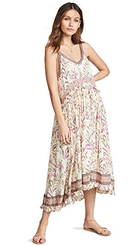 (Spell and the Gypsy Collective Women's Maisie Strappy Dress, Strawberry Cream, Off White, Floral, Small)