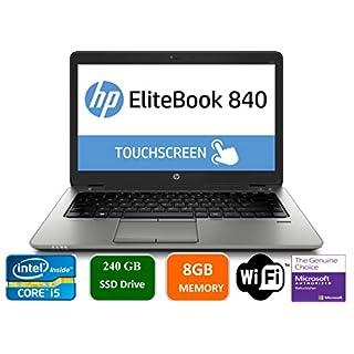 "HP EliteBook 840 G3 Business Laptop, 14"" Anti-Glare FHD (1920x1080) Touch Screen, Intel Core i5-6200U, 8GB DDR4, 240GB SSD, Webcam, Fingerprint Reader, Windows 10 Pro (Renewed)"