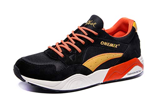 Dilize-OneMix, Scarpe da Corsa Unisex Adulti, Nero (Black/Orange), 39,5 EU