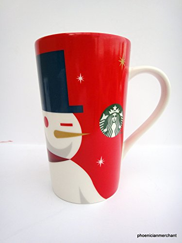 - Starbucks 2012 Holiday Red Cup Mug Snowman 16 fl ozl Coffee Tea Mug