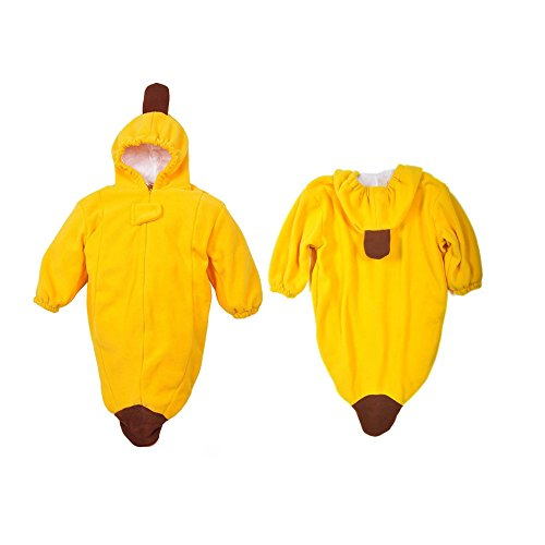 Sealive Baby Sleeping Bag Sack Romper Fleece Banana Sleepwear Swaddle Unisex Bodysuit Infant Sleepsack ,Yellow Color For 0-36 (Baby Money Bag Costume Pattern)