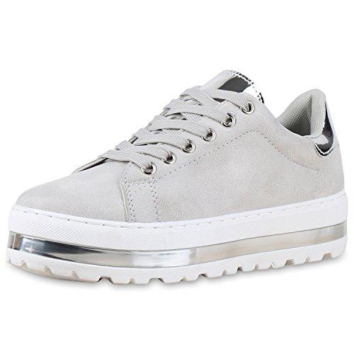 napoli-fashion - Zapatillas Mujer gris plateado