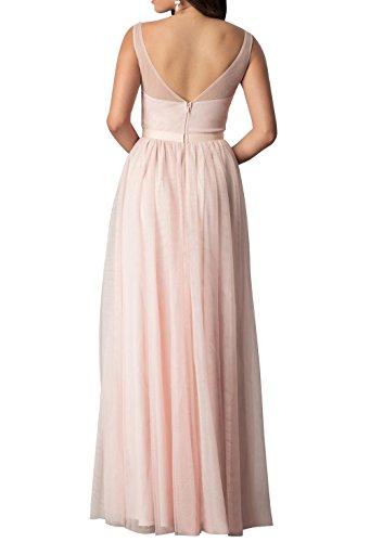 Festlichkleider Brautjungfernkleider Lila mia V Promkleider Neu Ausschnitt Abendkleider Langes La Brau Partykleider Bodenlang xz1Y7qzOw