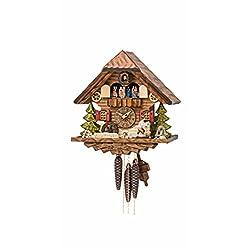 Kammerer Uhren Hekas Cuckoo Clock Black forest house, turning mill-wheel