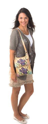 Zimbelmann Lili Iris Sac bandoulière pour femme en cuir nappa peint à la main