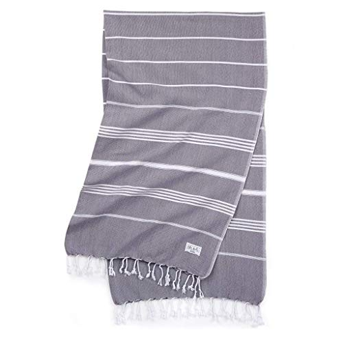 The Bali Market Turkish Bath Towels - Perfect Classic - Dark Grey