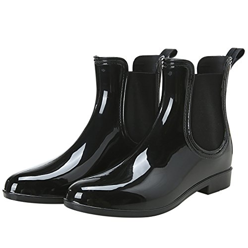 Stivali Da Pioggia Moda Donna Caviglia Alta Anti-scivolo Impermeabile Scarpe Da Pioggia Nere