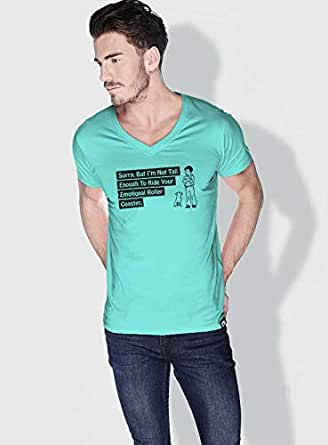 Creo Not Tall Enough Funny T-Shirts For Men - M, Green