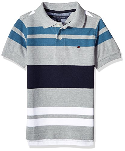 d0509f47a928 Galleon - Tommy Hilfiger Boys  Little Short Sleeve Striped Polo Shirt
