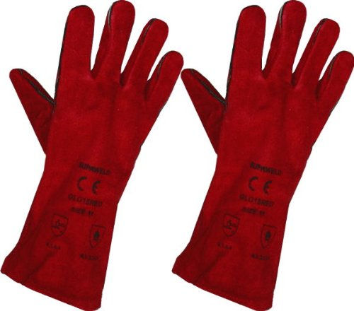 Large Red Stove Fire and Barbecue Gloves Uk Gloves