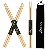 Donner Drum Sticks 5A Classic Maple Wood 3 Pairs Drumsticks With Carrying Bag