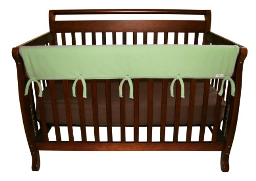 Trend Lab Fleece CribWrap Rail Cover for Long Rail, Sage, Wide for Crib Rails Measuring up to 18