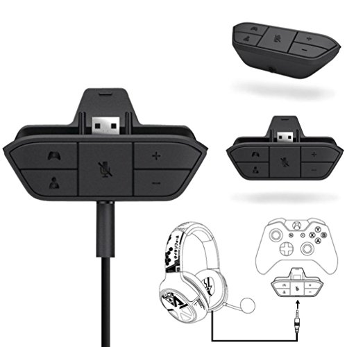 Sandistore Stereo Headset Adapter Headphone Audio Game Adapter For Microsoft Xbox One (Stereo Earphone Adapter)