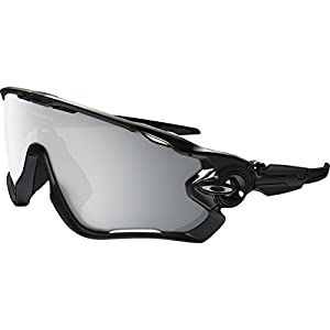 Oakley Mens Jawbreaker Asian Fit Sunglasses, Polished Black/Chrome Iridium, One Size