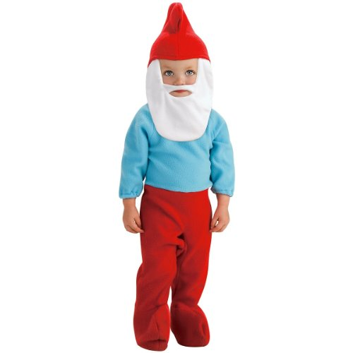 The Smurfs Movie Romper Costume, Papa Smurf, Toddler Size]()