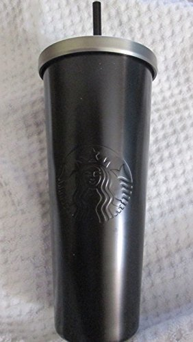 Starbucks Stainless Steel Venti 24-Ounce Double Walled Cold Cup Tumbler (Black)