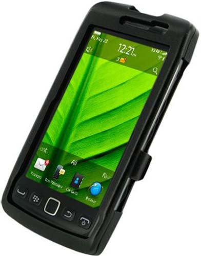 Monaco 29066 Aluminum Case for BlackBerry Torch 9850 9860 - Non-Retail Packaging - Black (Monaco Case Blackberry)
