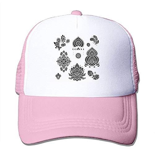 Laura Bunyan Vintage Mesh Hat Beautiful-Pattern Adjustable Trucker Baseball Cap -