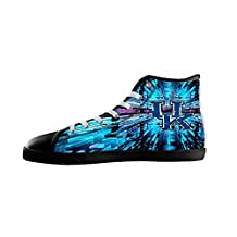 Renben Vintage NCAA Women's Canvas Shoes Lace-up High-top Sneakers Casual Shoes