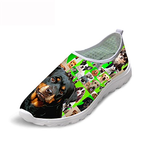 マニア複合ハイランドLedback スニーカー メンズ 通気 メッシュ スポーツ ランニングシューズ 面白い 犬 スリッポン 軽量 快適 クッション 通勤 通学 歩きやすい プレゼント