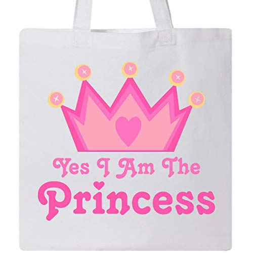 TkTastic21 Yes I Am The Princess Crown Tote Bag Pink Girls Royal Cute Women Gift 2 PCS from TkTastic21