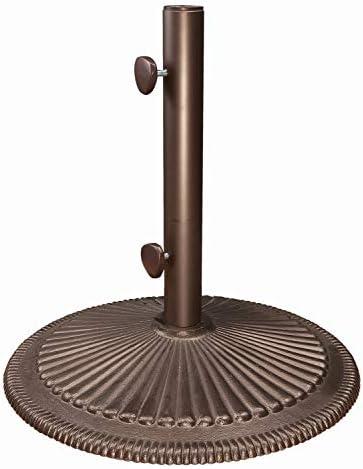 SimplyShade Coral Free-Standing 50 Pound Cast Iron Patio Umbrella Base, Bronze