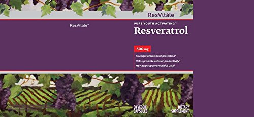 Resvitale Resveratrol 500 Mg 30 Capsules Buy Online In Kuwait
