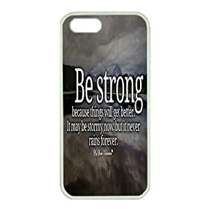 iPhone 5/5S Case,Fashion Durable White Side Diy design for Apple iPhone 5/5S(4.0 inch),Rubber material iPhone 5/5S Cover ,Safeguard Phone from Damage ,Designed Specially Pattern from our Life with Stay Strong inpirational quotes Design on Lake. by runtopwell