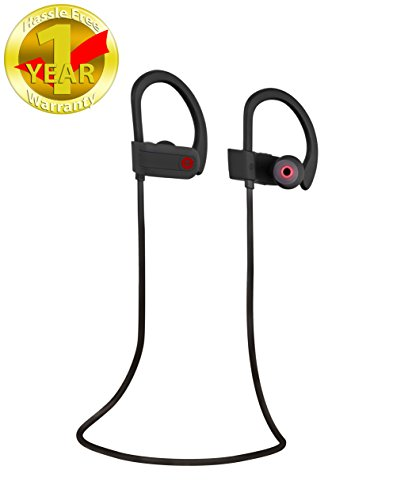 db Sport Wireless Headphones High Definition Stereo Sound With Mic for Wireless Talking Soft Ear Hook for Comfort V4.1+EDR … (black)
