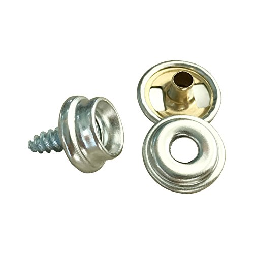 Fastener Screw Snaps, Marine Grade 60 Pieces Boat Canvas Snaps Stainless Steel Fastener Screw Snaps -3/8