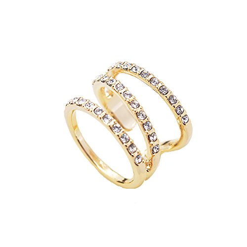 UPC 783956493873, High Gloss Crystal Accent Wrap Around Open Spiral Midi Ring (gold-plated-base)