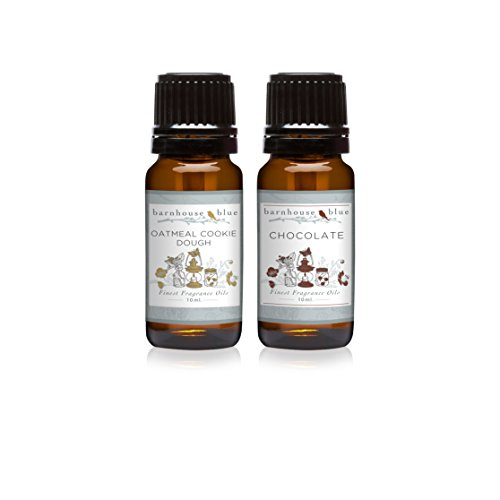 Pair (2) - Barnhouse Blue - Oatmeal Cookie Dough & Chocolate - Premium Fragrance Oil Pair - 10ml (Body Oatmeal Cookie)