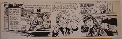 - GEORGE WUNDER original strip art, TERRY, 7x23, 1972, 3 pages, Signed / dated,Dec
