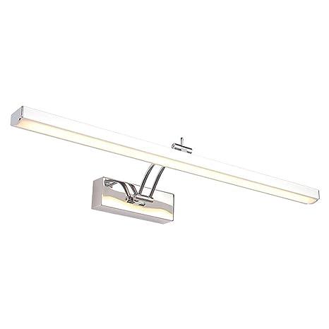 Moderno LED Lámpara de Pared Baño Aplique Espejo de Acero ...