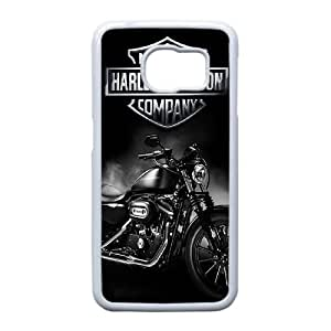 Edge caso Harley Hierro I3Z43I4BK funda Samsung Galaxy S6 funda X33QR8 blanco