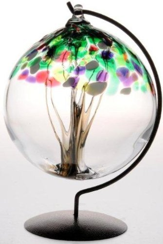 Spring Tree of Life Large Glass Friendship Ball by D&J Glassware