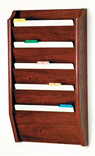 Wooden Mallet 5-Pocket File Holder, Legal Size, -