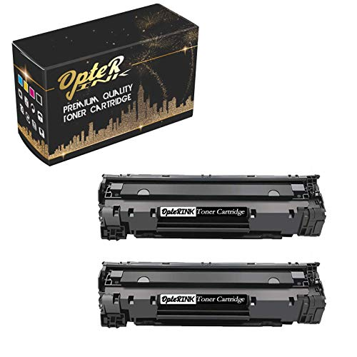 OpterInk Compatible CB536A Printing Toner Cartridge Replacement for HP Laserjet M1319f Multifunction Printer Toner Cartridge (Black, 2 -Pack)