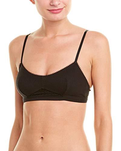 - OnGossamer Women's Silk Modal Bralette, Black, L