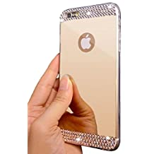 ✮ + FREE Screen Protector ✮ | iPhone 6/6S Plus Luxury Hybrid Beauty Crystal Rhinestone With Gold Sparkle Hard Protective Diamond Case (iPhone 6/6S Plus Gold)