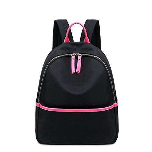Bolso de hombro de tela de Oxford / bolso de nylon salvaje de los estudiantes universitarios de los estudiantes universitarios de la manera coreana de la manera ( Color : Negro , Tamaño : 26*11*39cm ) Negro