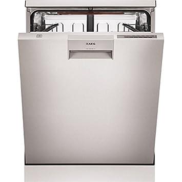 AEG F66682M0P lavavajilla - Lavavajillas (Semi-incorporado, Acero ...