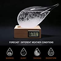 Storm Glass Weather Stations Water Drop Weather Predictor Creative Forecast Nordic style Decorative Weather Glass (Thermometer) from 3D HOME®