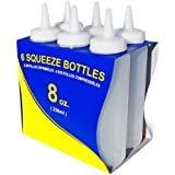 New Star 26115 Plastic Squeeze Bottle, 8-Ounce, Clear, Set of 6