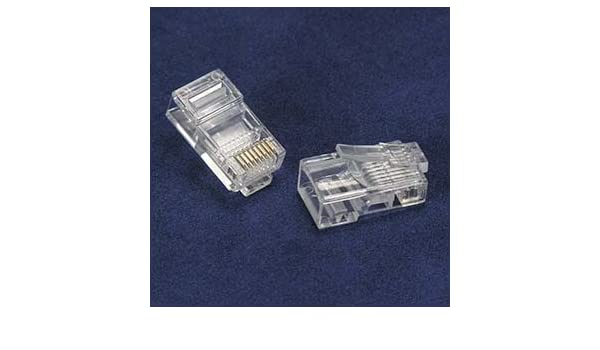 5 Pack RJ45 Cat.5E Shielded Plug Solid 50 Micron 100pk GOWOS