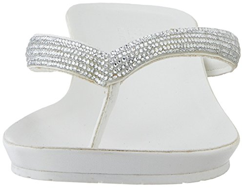 Kenneth Cole REACTION Frauen Great Time Split Toe Leger Sandalen mit Keilabsatz White